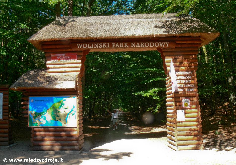 Woliński Park Narodowy - brama wejściowa