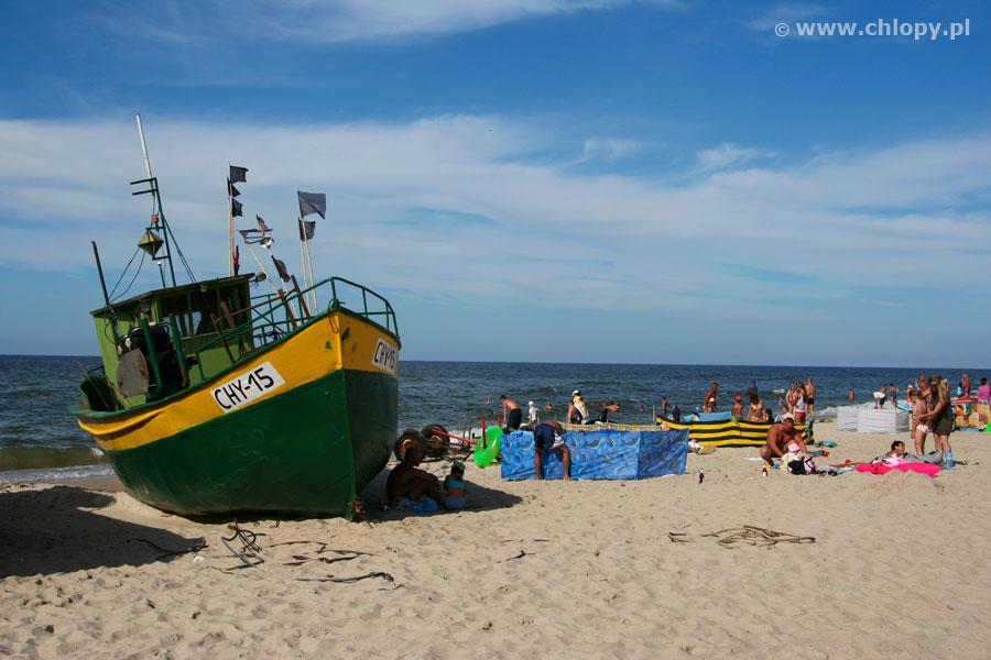 Chłopy plaża